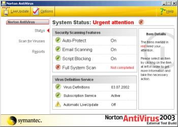Beta verze Norton Antivirus 2003