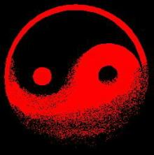 Symbol jing - jang, jinak také psaný jako yin-yang