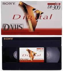 Kazeta D-VHS se vzhledově neliší od svých předchůdců.