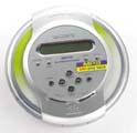Čelní pohled na CD Walkman Sony