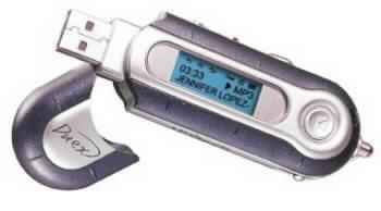 MP3 přehrávač velikosti klíčenky Duex mp302 player