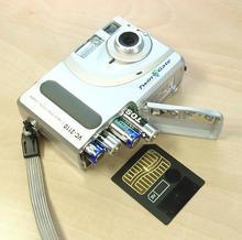 Místo pro baterie a paměťovou kartu