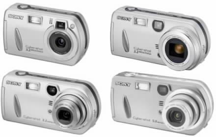 Digitální fotoaparáty Sony DSC P32, DSC P52, DSC P72 a DCS P92
