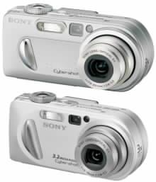Digitální fotoaparáty Sony DSC P8 a DSC P10