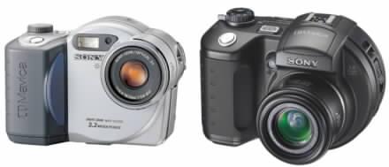 Digitální fotoaparáty Sony CD Mavica CD350 s CD500