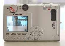 Digitální fotoaparát Canon IXUS 400 - zadní stěna