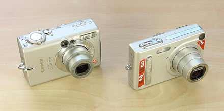 Digitální fotoaparáty Canon IXUS 400 a Casio Exilim EX-Z3