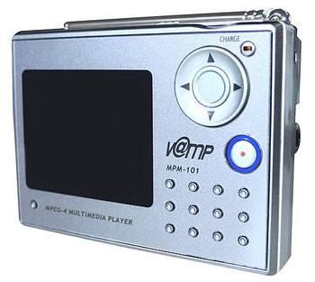 Zadní část digitálního multimediálního přenosného přístroje W@map MPM-101