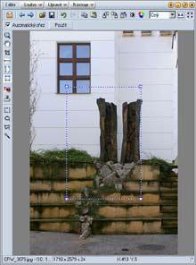 Úprava detailu budovy