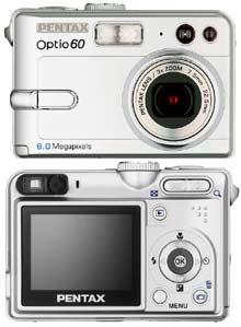 Digitální fotoaparát Pentax Optio S60