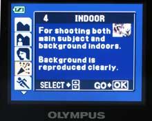 Olympus μ 800 - scénické režimy