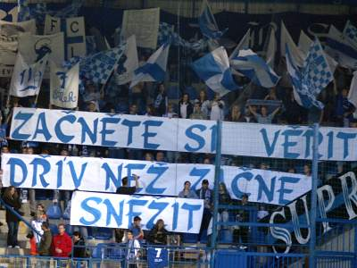 Liberec: transparent fanoušků