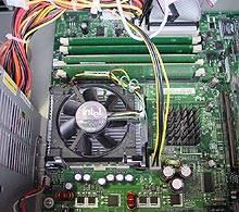 Pohled na chladič Cpu, chladič čipsetu a Rimmy
