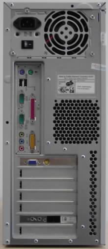 Zadní strana počítače Fujitsu Siemens Scaleo 600