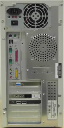 Pohled na zadní část počítače od Autocontu