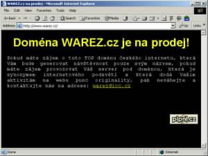 Doména warez.cz je na prodej. Nemáte zájem?