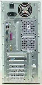 Zadní část počítače All Computer Excellent K7XP/2400
