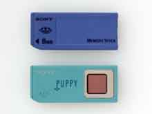 Kontrola otislu prstu na kartě formátu Memory Stick