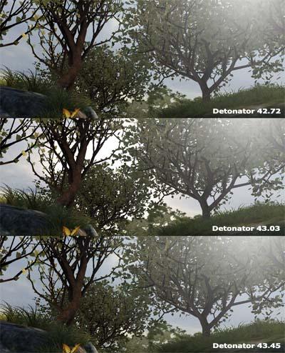 3DMark03 Game4 Mother Nature 800 Frame - vykresleno detonátory