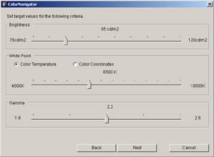 Kalibrační software EIZO ColorNavigator