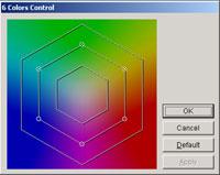 Kontrolní 6-ti barevný panel