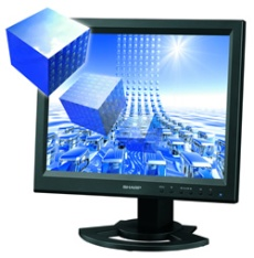 LCD monitor s 3D zobrazením Sharp