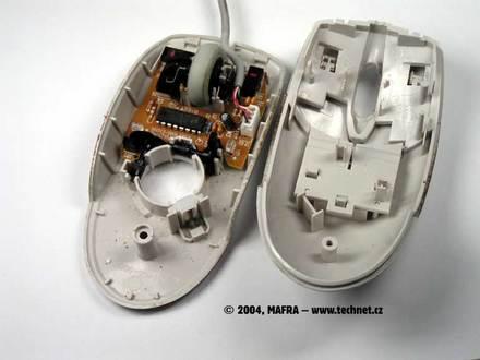 Kuličková myš – vnitřek