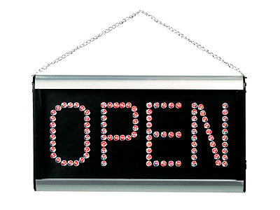 Ultra Bright LED 2-Sided CLOSED/OPEN Signboard