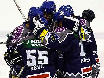 Radost hokejistů Kladna