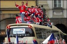 Přivítání hokejistů na Staroměstském náměstí