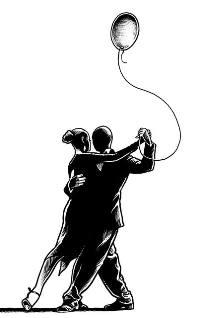 Ilustrace k písni Tanečník z alba Proměna