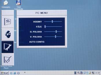 LCD TV ECG 20 LC 12  - menu