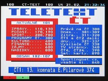 LCD TV ECG 20 LC 12  - teletext