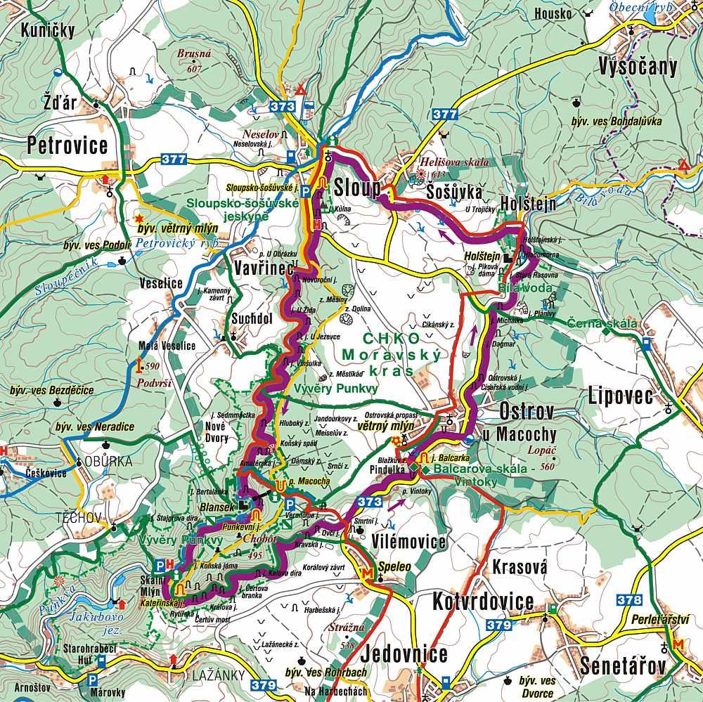 Mapa Turisticka Mapa Moravsky Kras