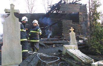 Ostravě shořel dřevěný kostel