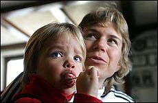 Kateřina Neumannová s dcerou