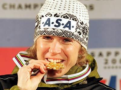Kateřina Neumannová a zlatá medaile