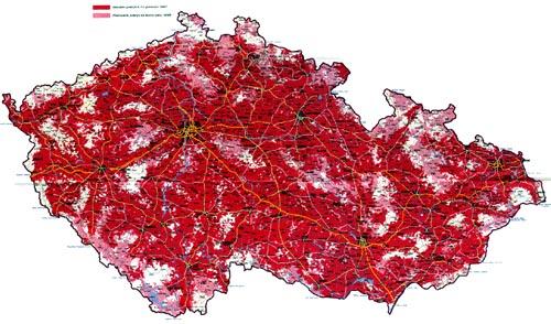 Mapa pokryti site Paegas na rok 1998