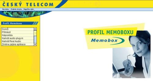 Memobox nastavení internet