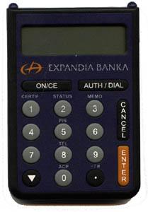 A tohle je elektronický klíč - samozřejmá součást účtu u Expandia Banky