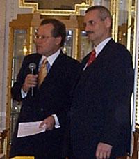 Ed Kingman (vlevo) a Alexander Winkler (vpravo)