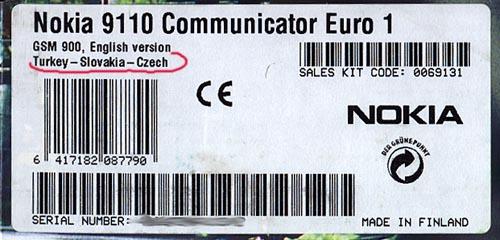Tak tohle je nálepka na komunikátoru.