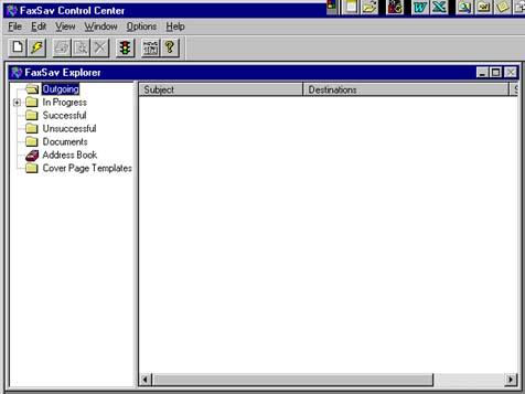 screenshot programu faxsav