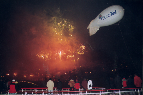 EuroTel slaví ohňostrojem miliontého zákazníka