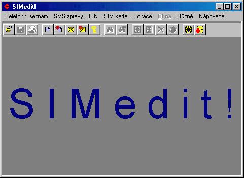 Lišta programu SIMEdit pro Windows