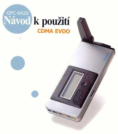 Titulní stránka manuálu modemu GTran pro Eurotel CDMA EVDO