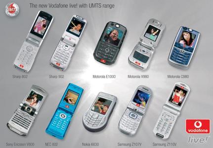 Nabídka 3G telefonů Vodafone na vánoce 2004
