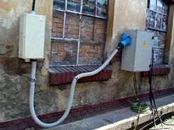 Přípoj elektriky