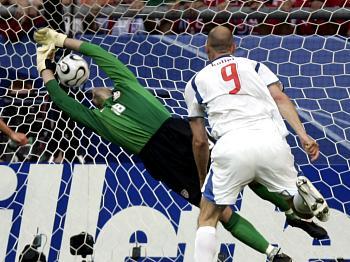 Česko - USA: Koller dává gól na 1:0