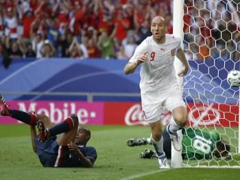 USA - Česko: Koller slaví gól